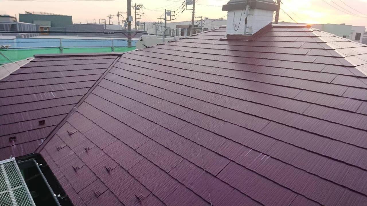屋根塗装上塗り